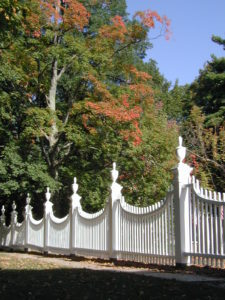 Old First Church fence in Old Bennington