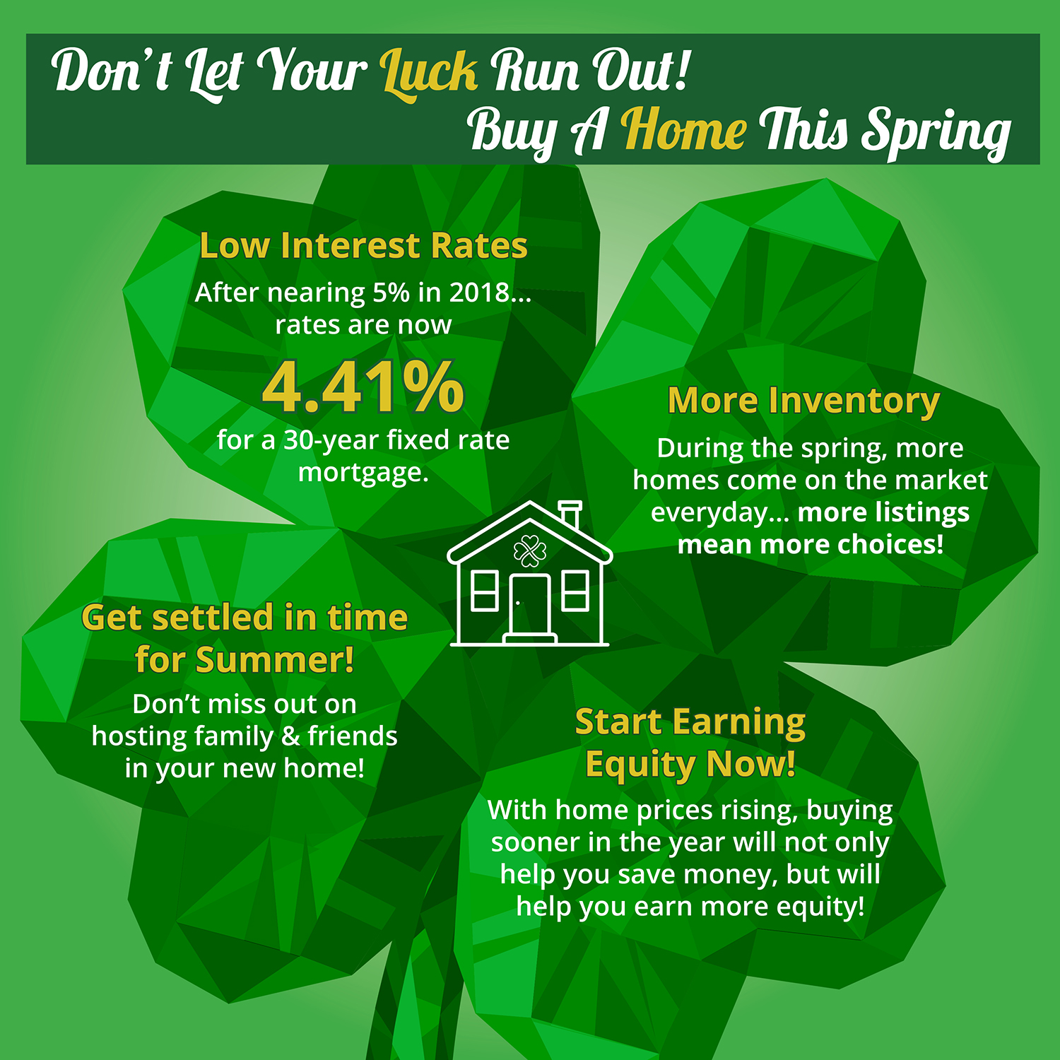 Don't Let Your Luck Run Out! Buy A Home This Spring [INFOGRAPHIC] | Simplifying The Market